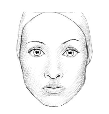 How to draw a realistic face (female)