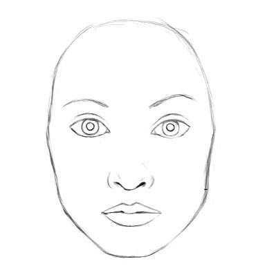 Clean up the lines fix the mouth and nose shape add the inner corners of the eyes