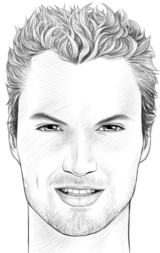 Scribble Drawing Of Face : How to draw realistic faces male