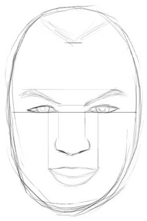 How to draw realistic faces male