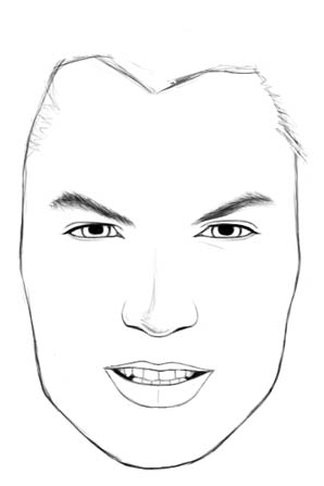 How to draw realistic faces male draw the ears usually if its a full frontal view the bottom of the ears will align with the bottom of the nose but in this picture it seems the mans ccuart Image collections