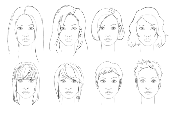 How to draw hair female sharenoesis