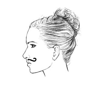 Female Face Profile Drawing at GetDrawings | Free download