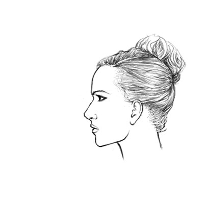 How to draw a female face in profile sharenoesis