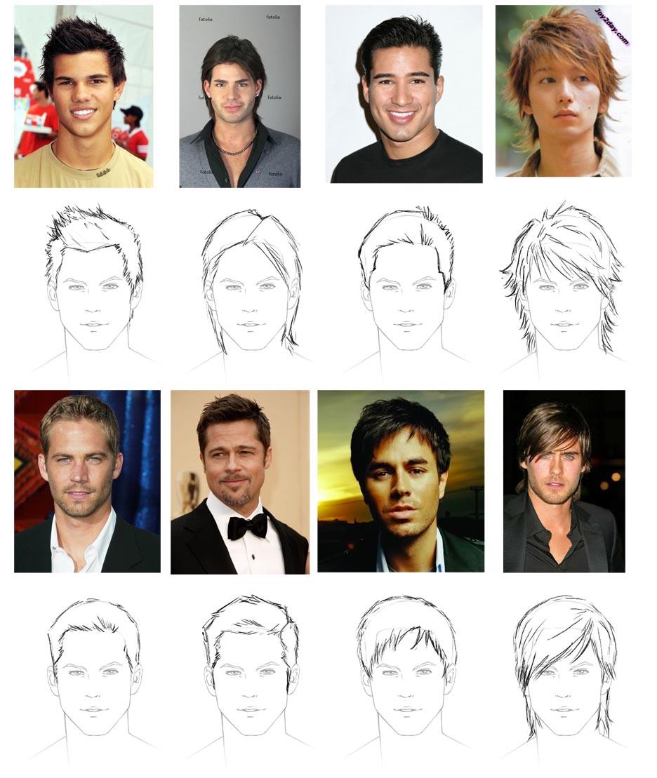 Astonishing How To Draw Hair Male Sharenoesis Short Hairstyles For Black Women Fulllsitofus