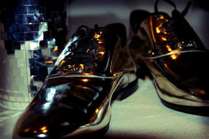 Silver disco shoes