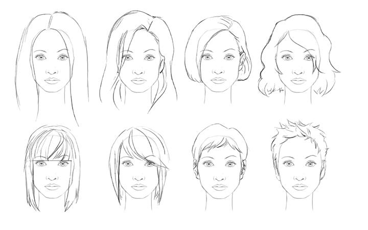 How to draw hair: female | ShareNoesis
